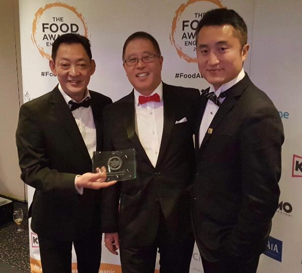 From left, COSMO Derby's chef Wee Kean Goh, commercial director Kan Koo and general manager Wells Qi celebrate after the restaurant picked up the award for Best Buffet Restaurant at The Food Awards England at a ceremony in Manchester last night. Penguin PR: public relations, social media and communications
