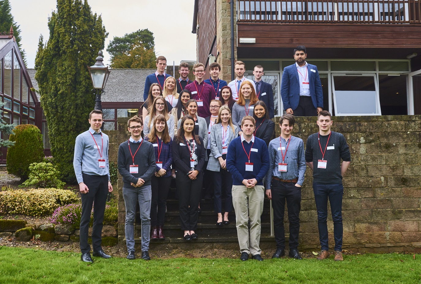 Some of the students who have been given year-long work placements at Hazelwood company Lubrizol, which is planning to increase the numbers of students it offers places to next year. Penguin PR: public relations, media and communications