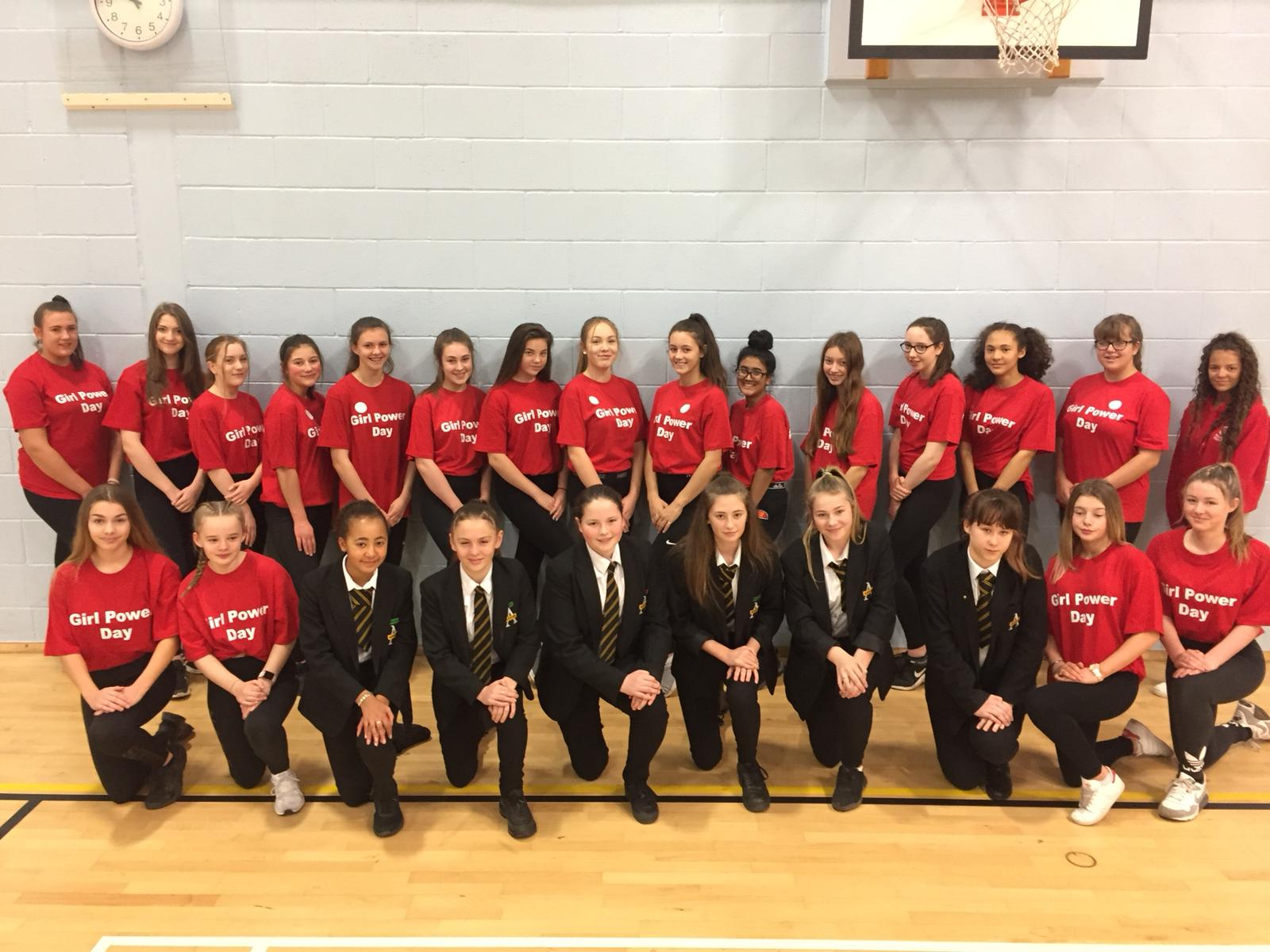 Aston Academy's Year 10 sports leaders and the school's sporting stars. Penguin PR: public relations, media and communications