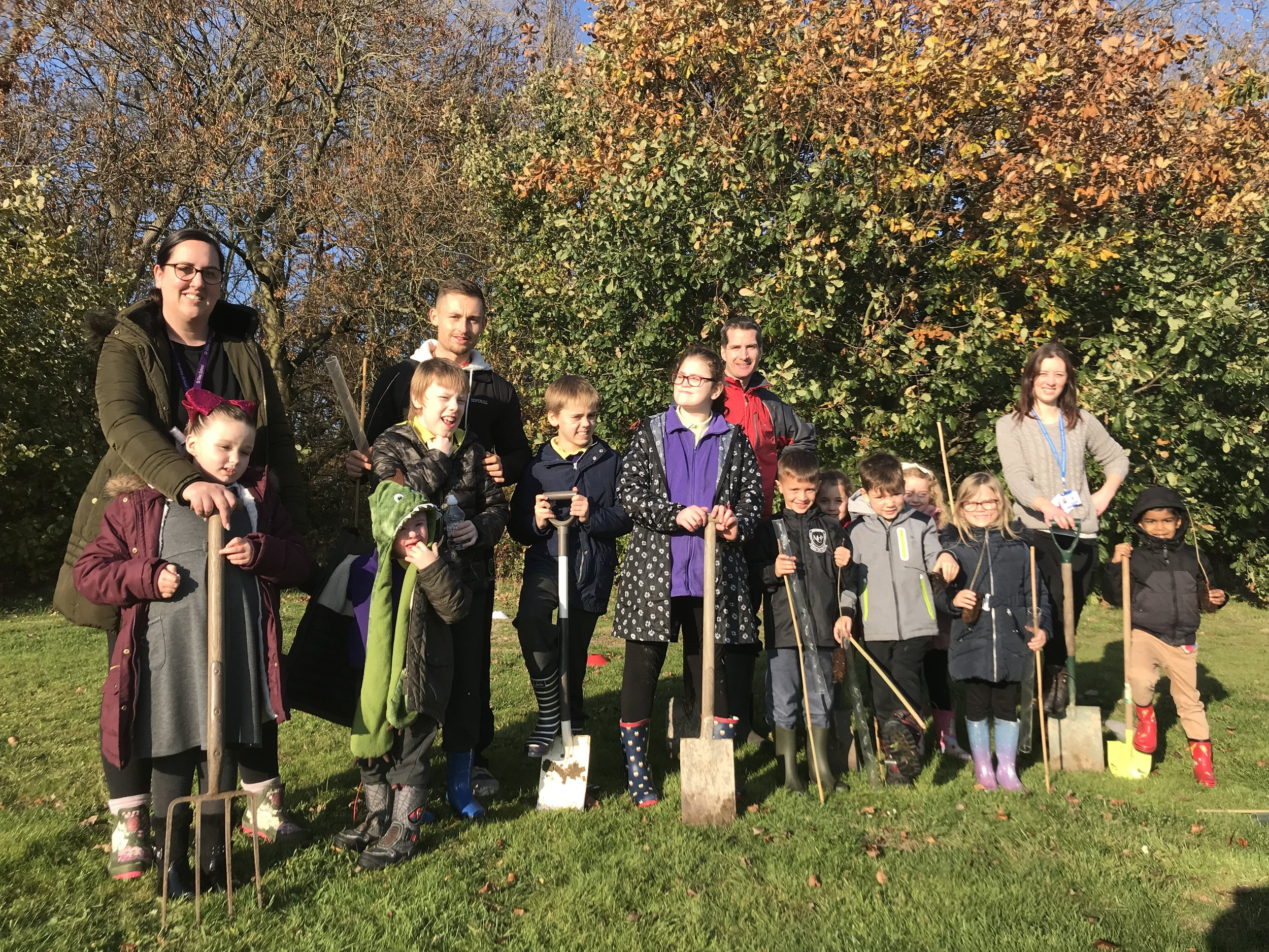 Staff and pupils from St Giles School and Carlyle Infant and Nursery teamed up to plant trees donated by the Woodland Trust. Penguin PR: public relations, media and communication