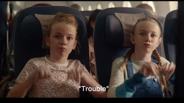 Rhianna and Natasha Cullen in the British Airways advert. Penguin PR - public relations, media and communications