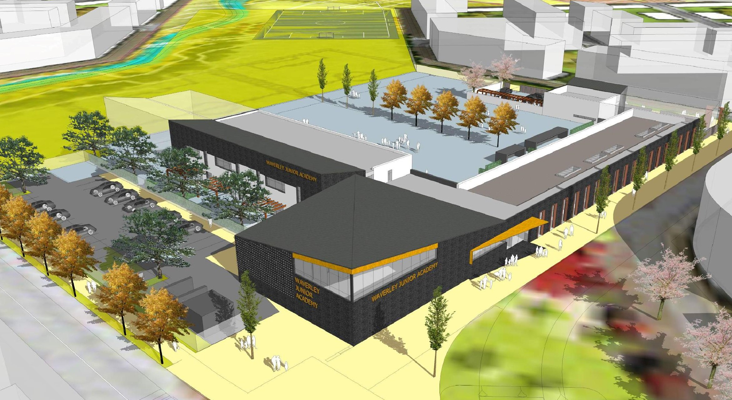 Rotherham Metropolitan Borough Council's planning board has officially approved plans for Waverley Juniors Academy. Penguin PR: public relations, media and communications