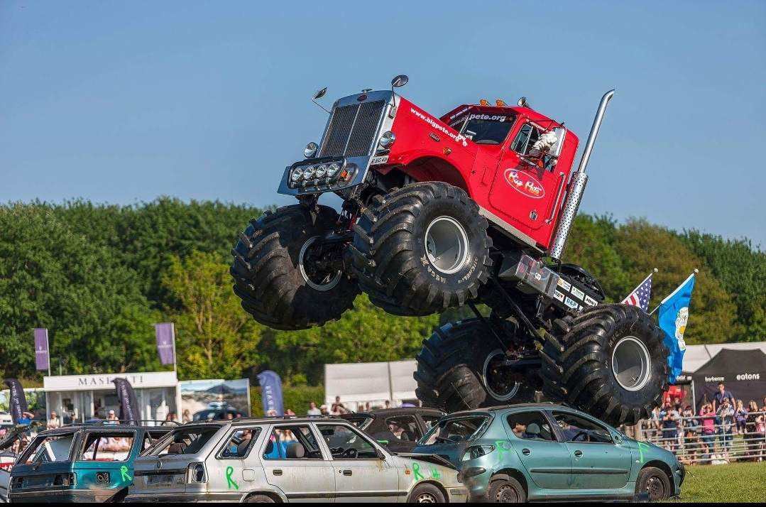 The Big Pete Monster Truck weighs seven-and-a-half tonnes and will be appearing at the Derbyshire County Show in 2019. Penguin PR: public relations, media and communications.