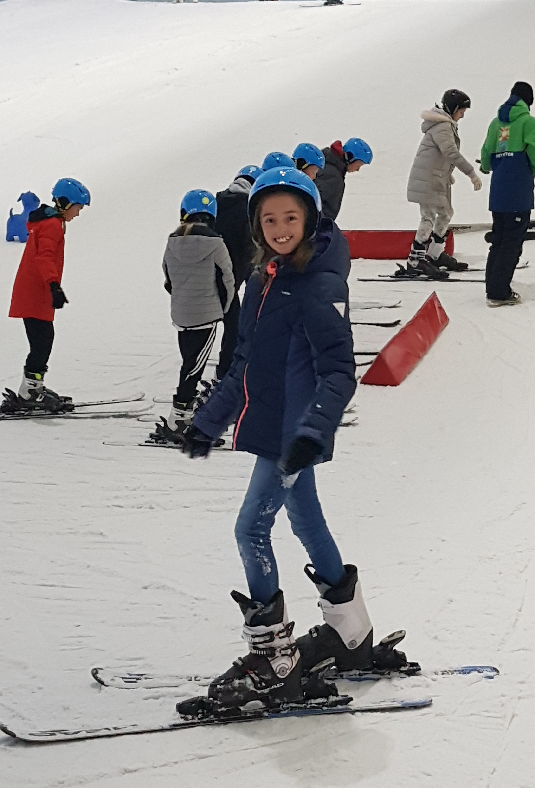 Listerdale Junior Academy pupil Meredith Davidson, 11, was one of 29 pupils who went skiing as a reward for working hard at her SATs exams. Penguin PR: public relations, social media and communications