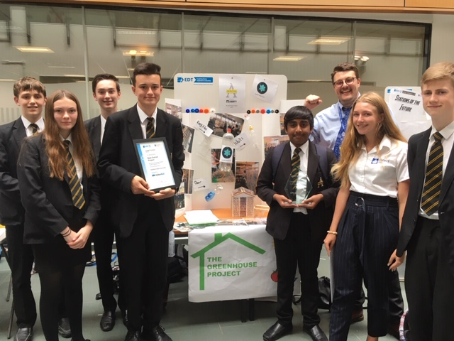 Swinton Academy students receive the top prize for their eco-friendly greenhouse. Penguin PR: public relations, media and communications