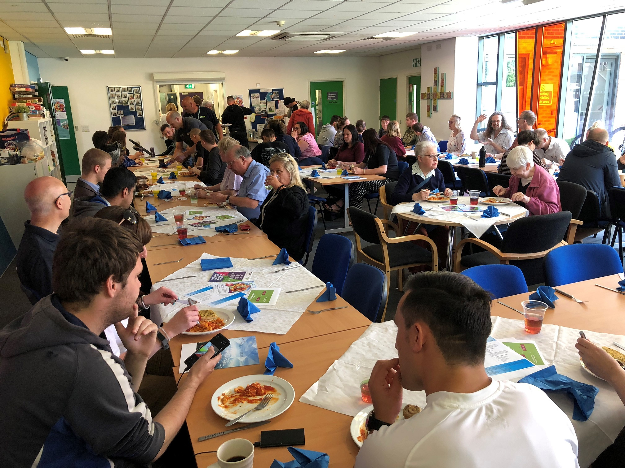 Staff from Lubrizol, in Hazelwood, took part in the YMCA Derbyshire Community Meal. Penguin PR: public relations, media and communications