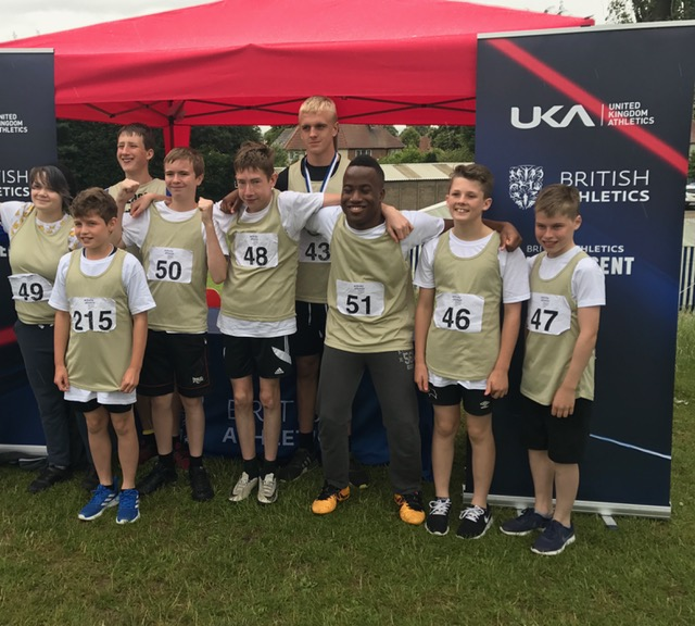 The team from St Martins School in Derby were representing the East Midlands at the British Athletics-backed Games. Penguin PR: public relations, media and communications