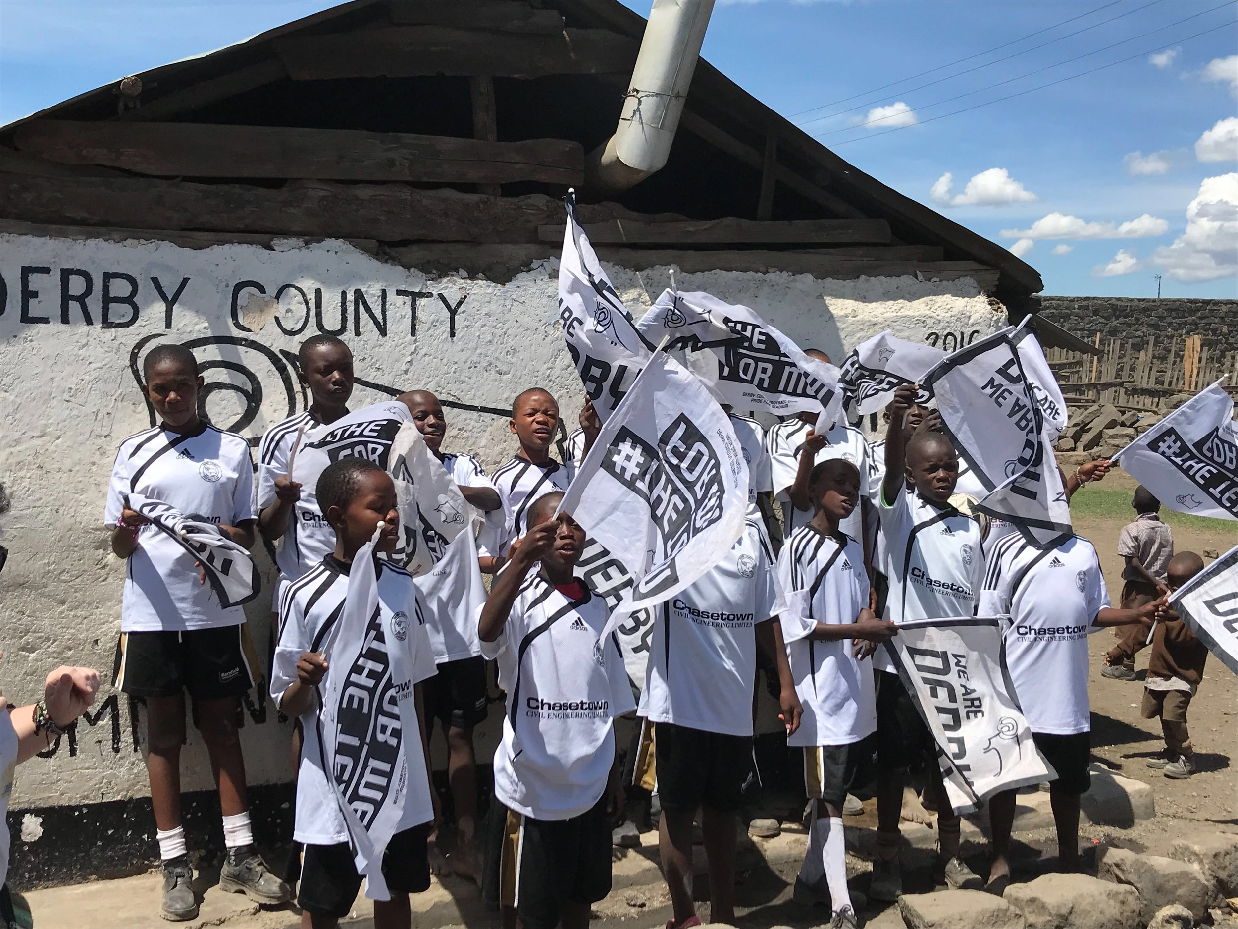 Derby County Community Trust's hugely successful Rams in Kenya project. Penguin PR: public relations, media and communications