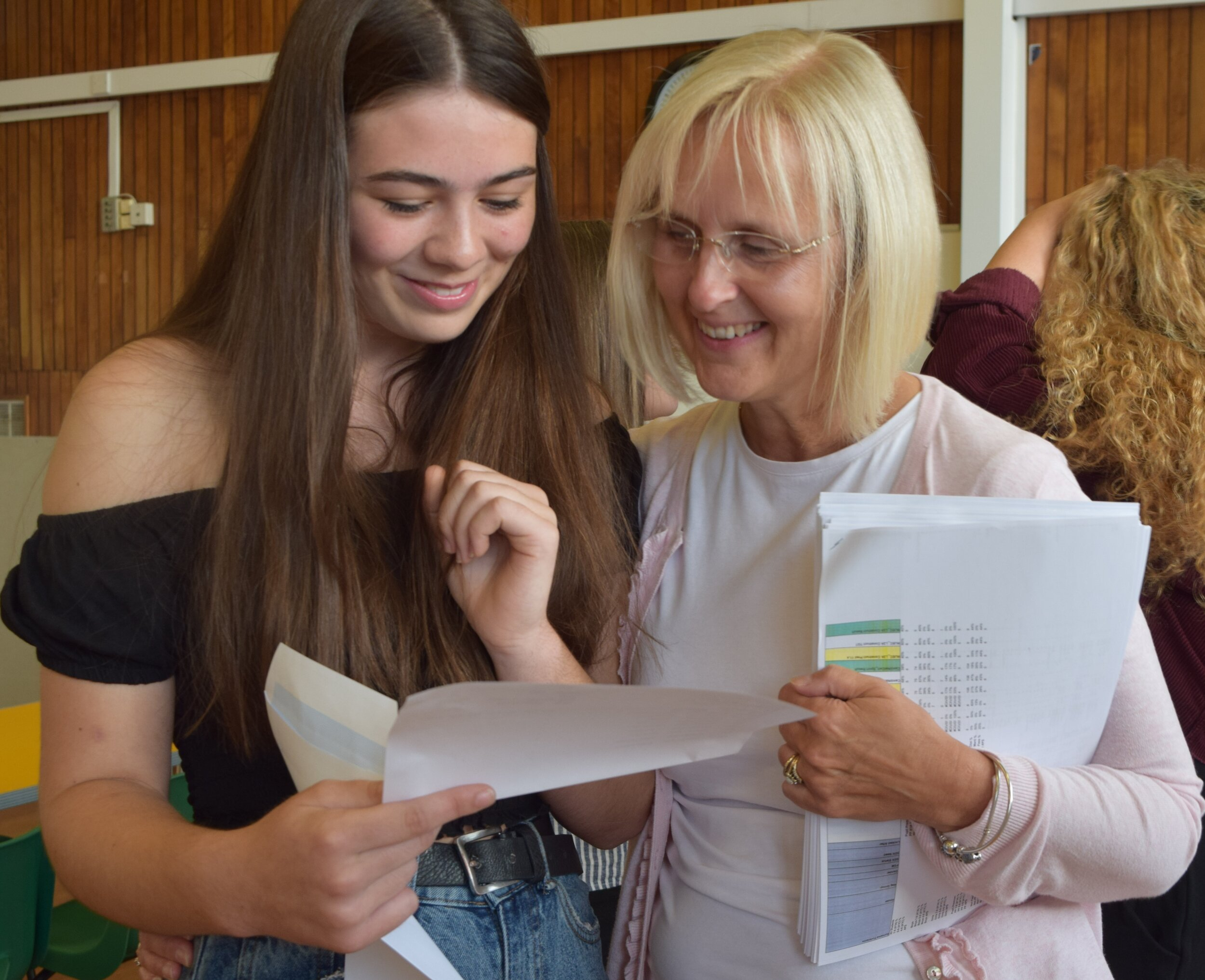 Swinton Academy principal Rebecca Hibberd (right) is celebrating a hugely successful year of GCSE results at the Rotherham secondary school.