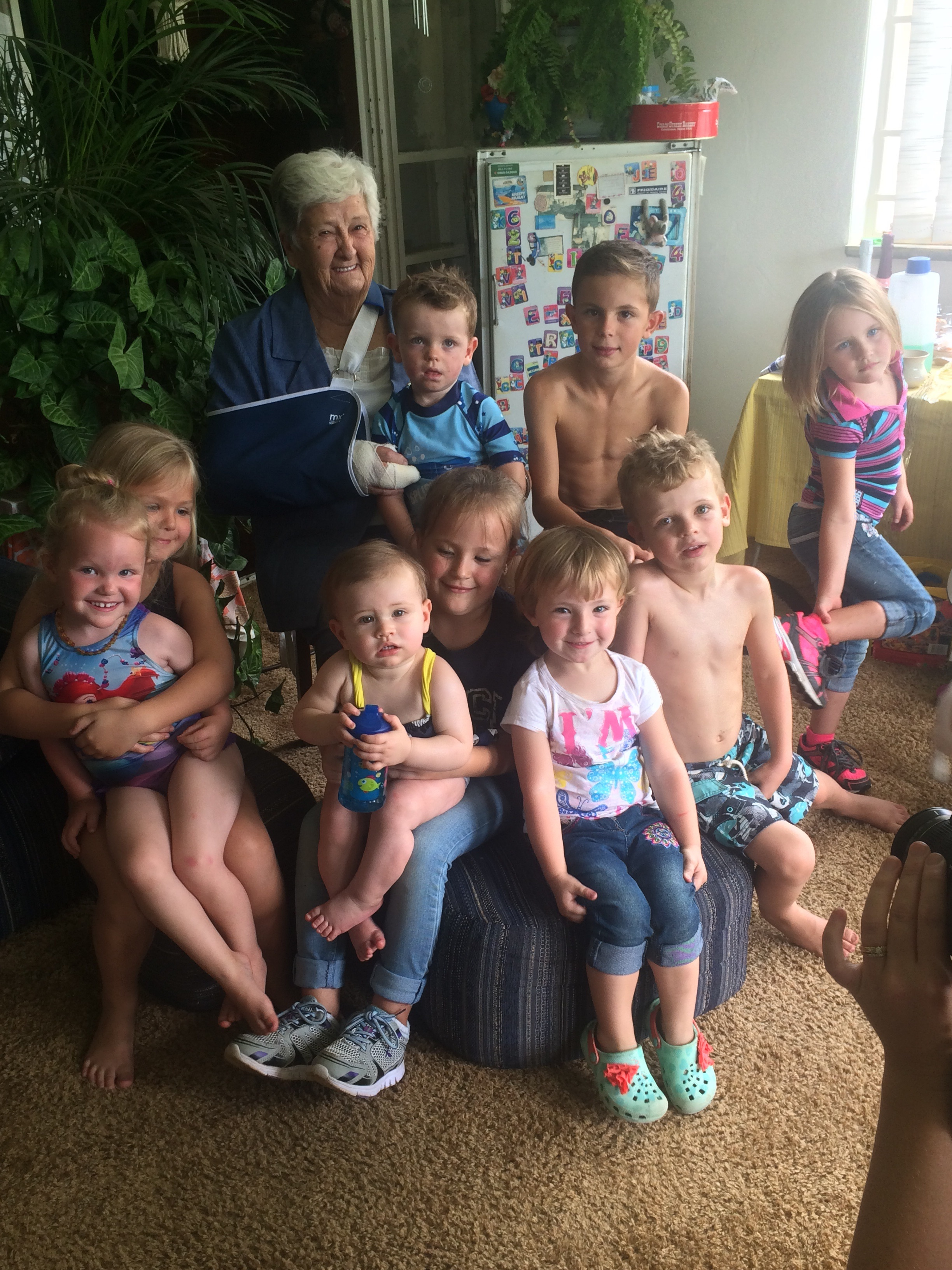 Gran with all of her grandkids!