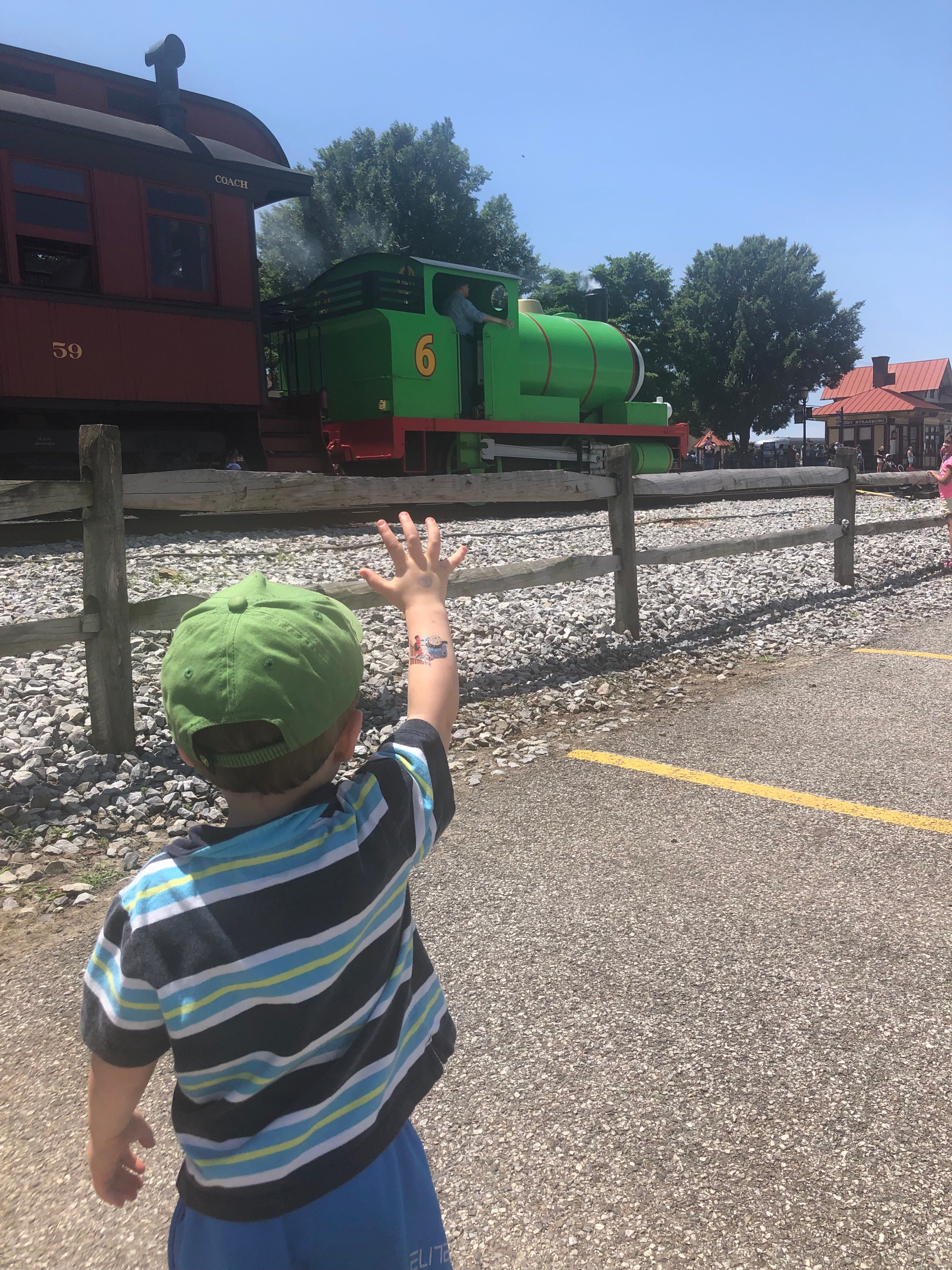 """Hi PERCY!!! Look at my Thomas tattoo!"""