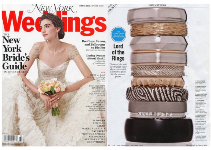 new york weddings magazine nick 14k wedding band