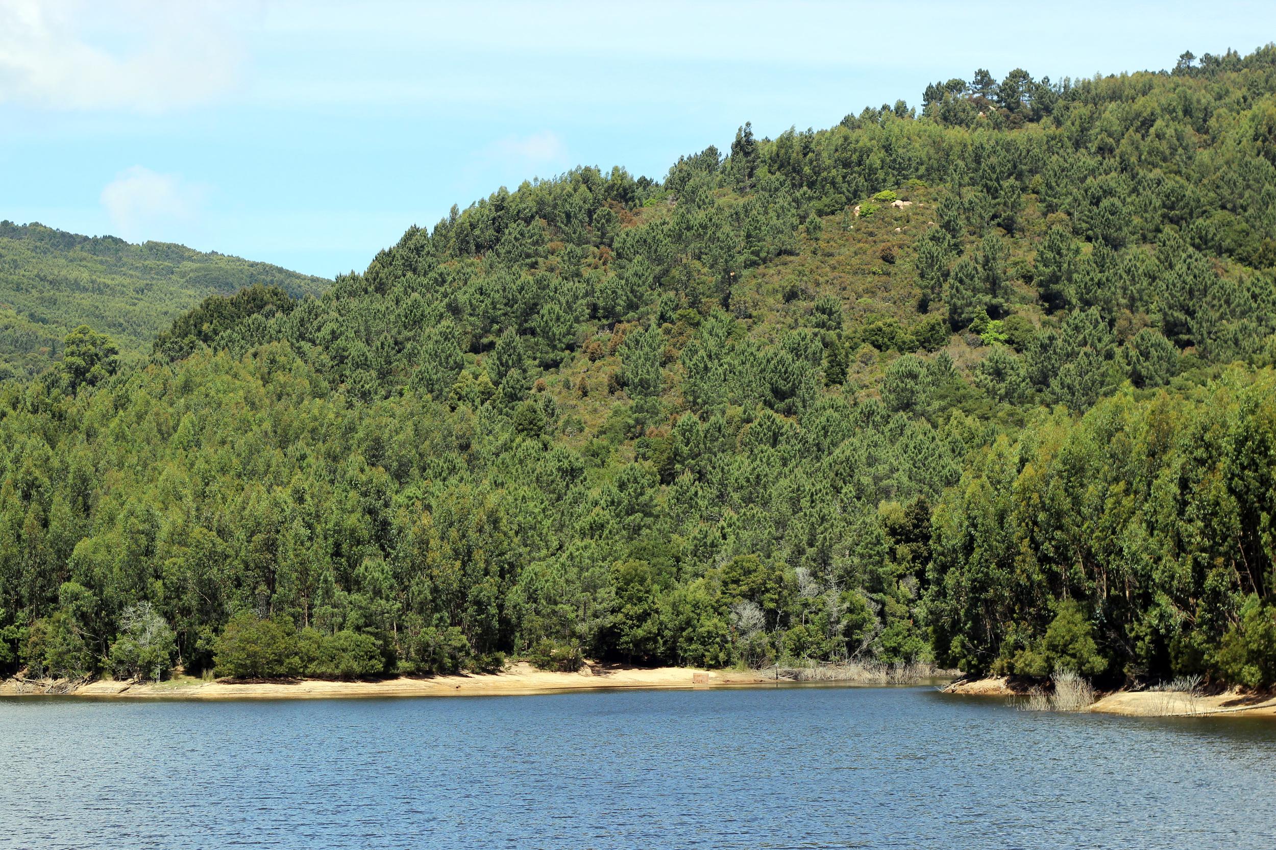 The lake at the bottom