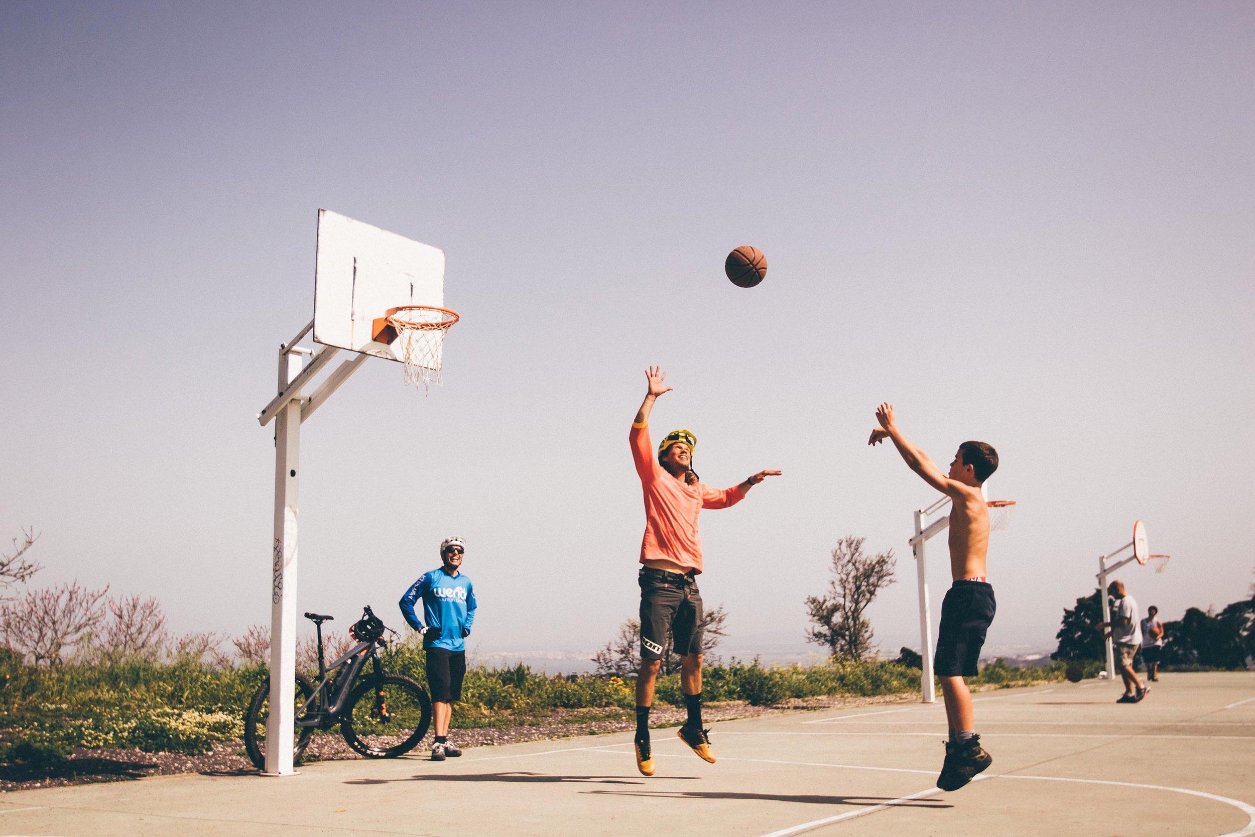bikes and basketball