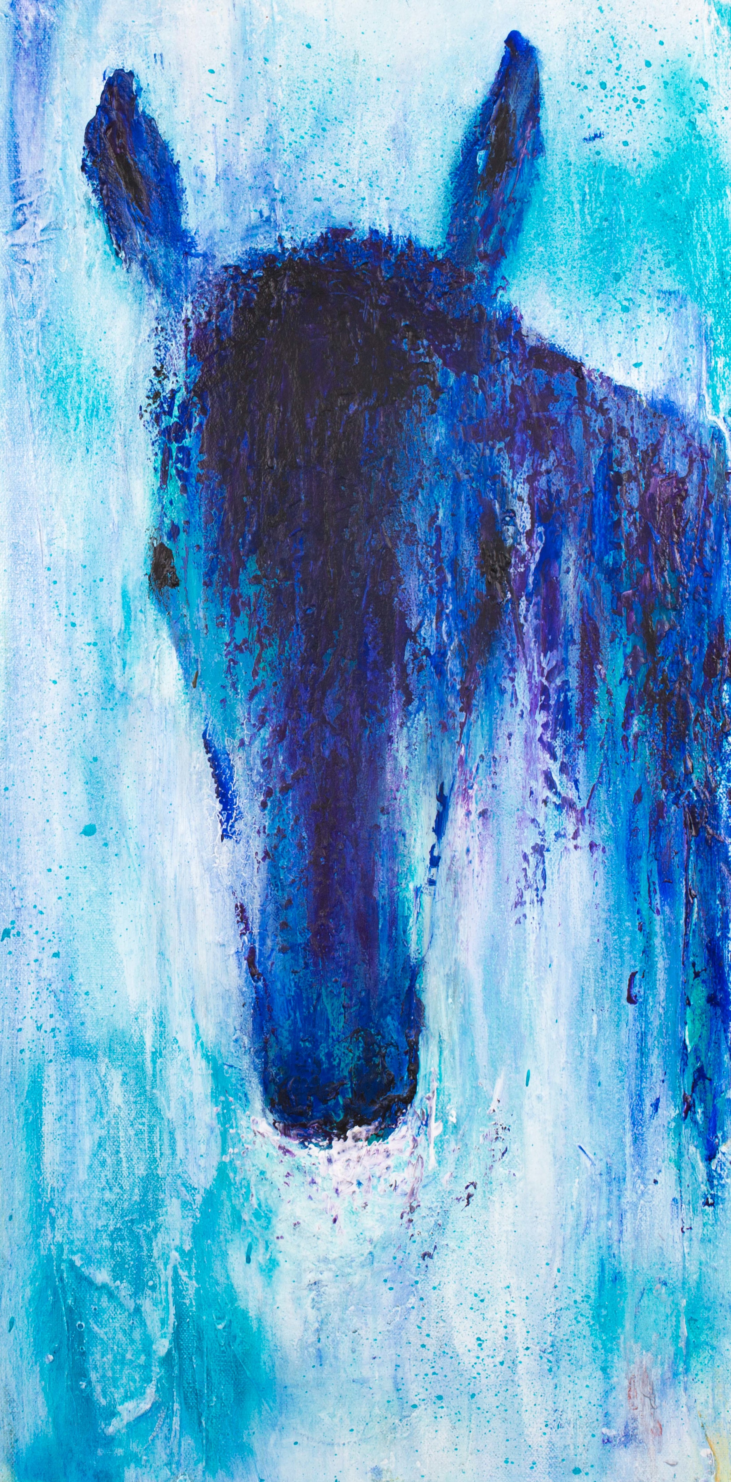 """True Blue - 12"""" x 24"""" SOLD (prints available)"""