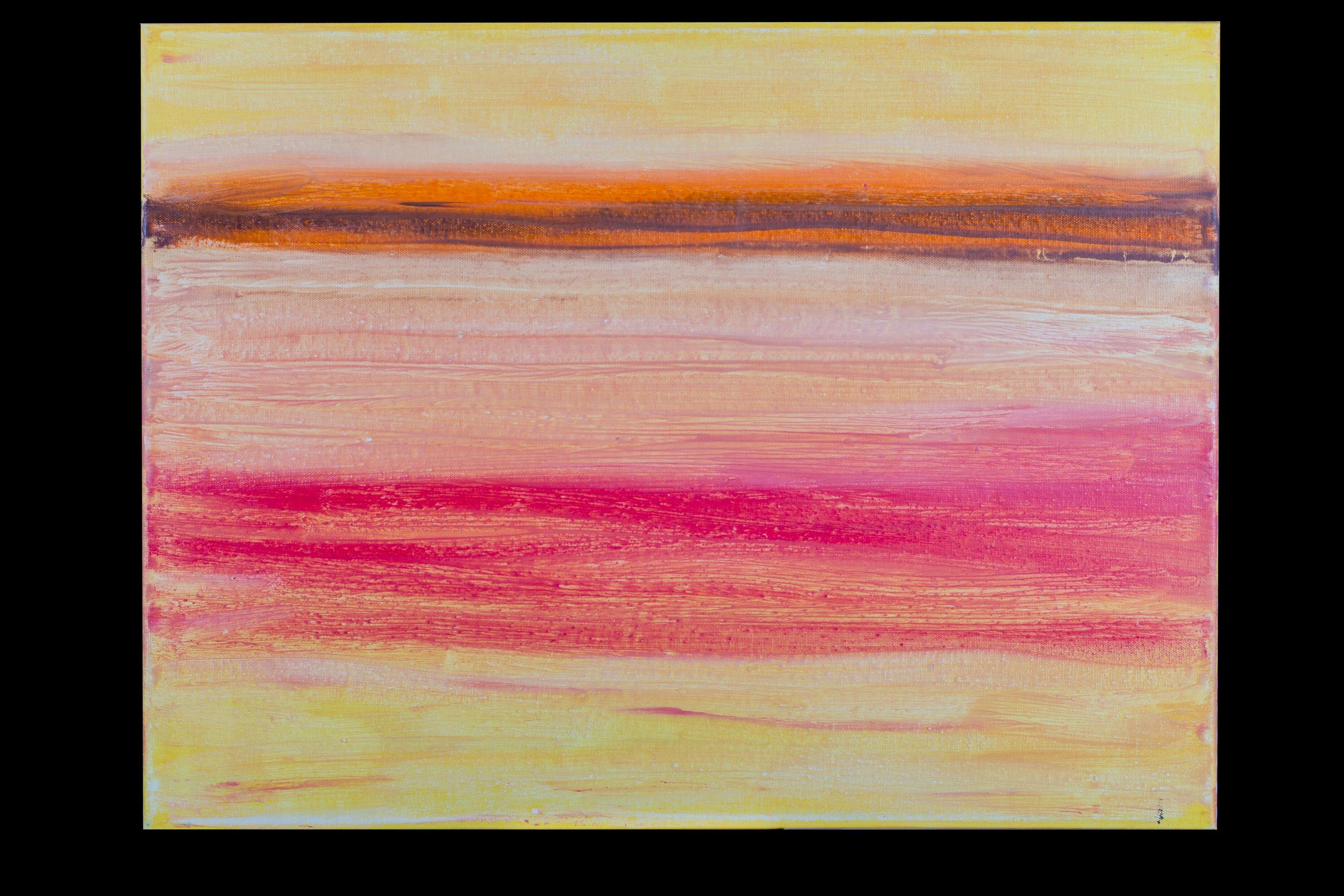 "Sunset Beach - 18"" x 24"" - $300"