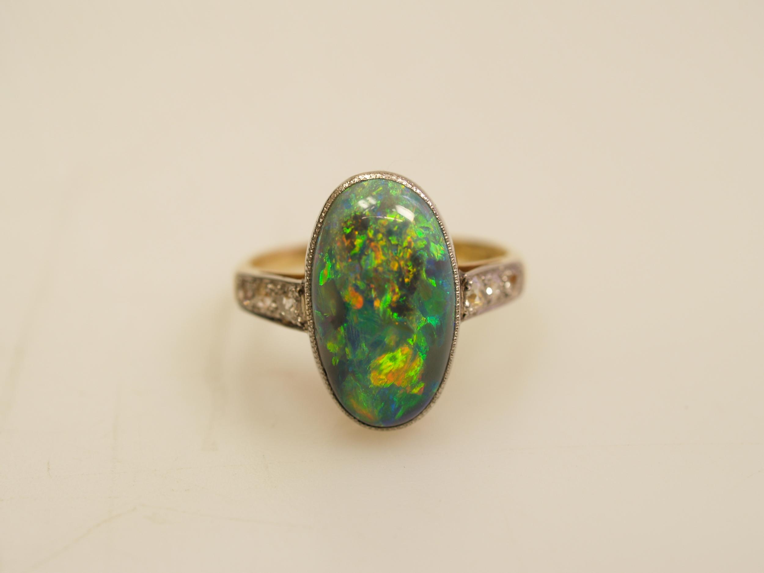 rare quality antique opal
