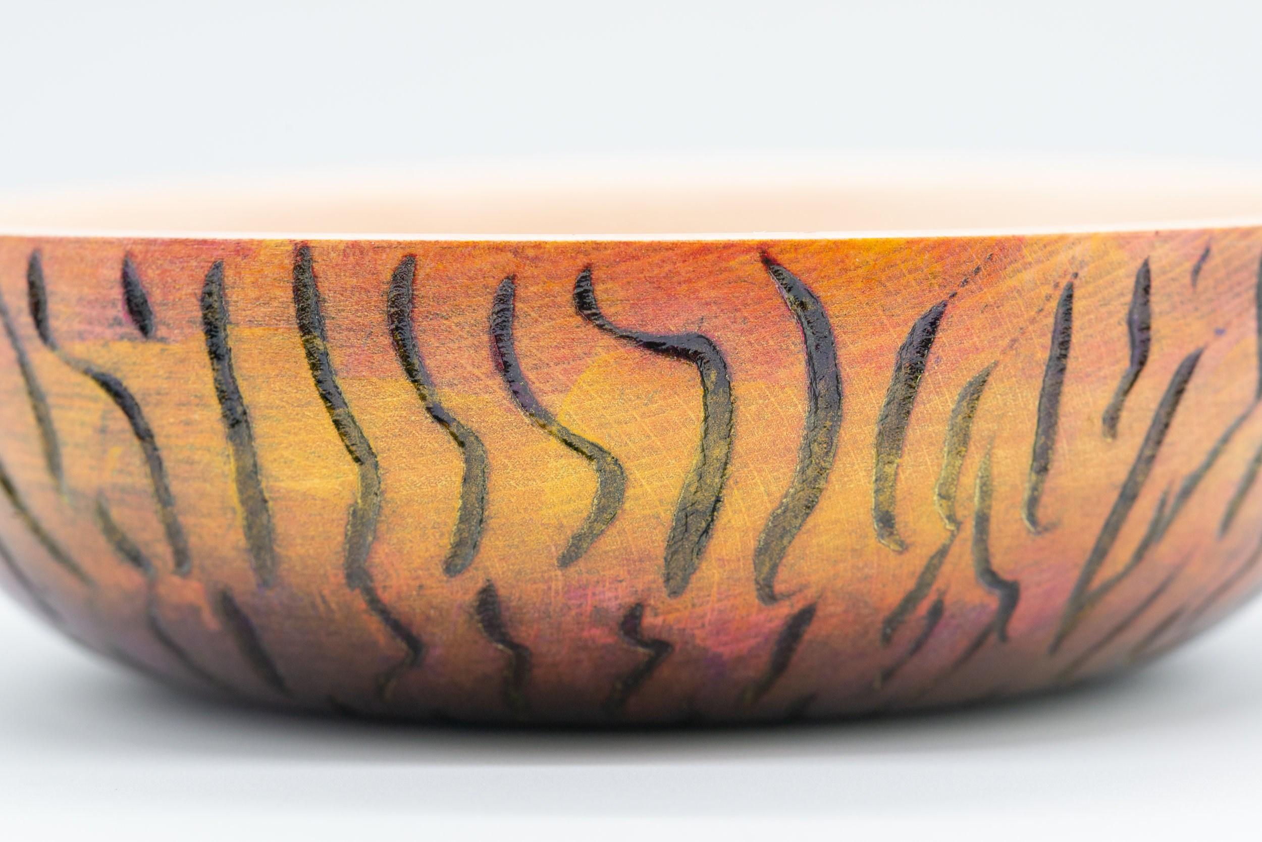 The 'Tiger' striped bowl - YouTube Video Available