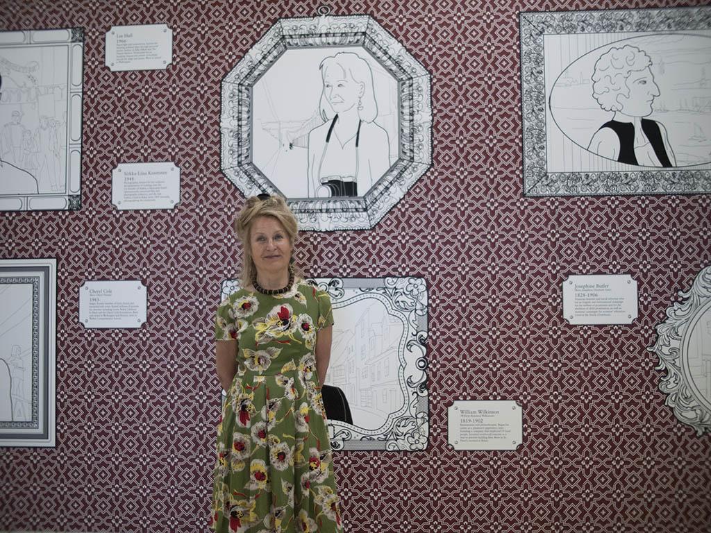 Sirkka-Liisa Konttinen politely puts up with my illustration skills