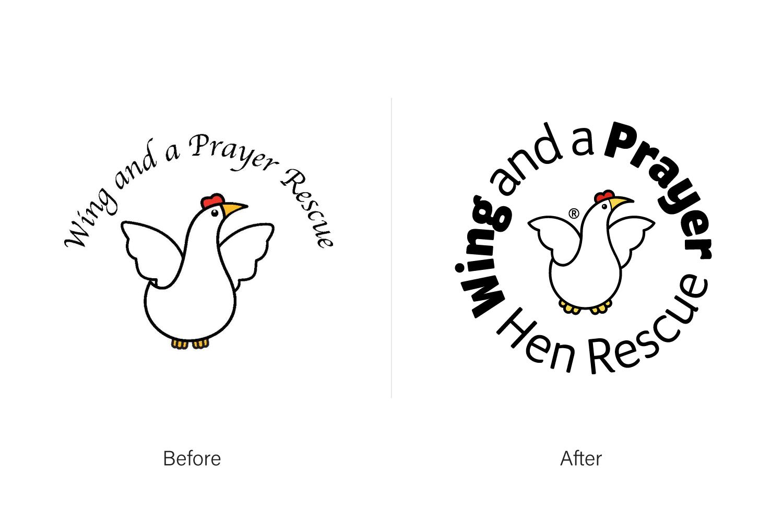 I Love Grids® Brand Identity Design for WAAP Hen Rescue. Stuart Cockburn © 2019