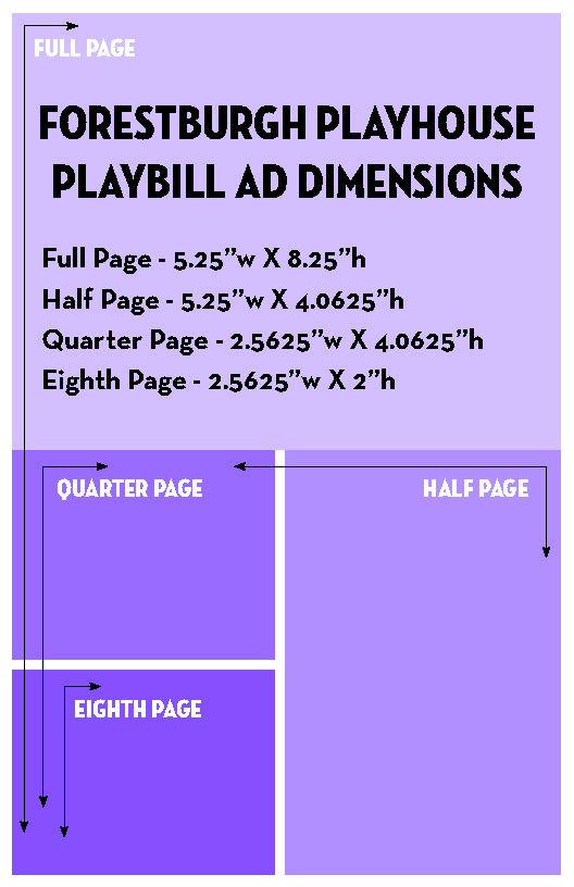 PLAYBILL ADVERTISING DIMENSIONS