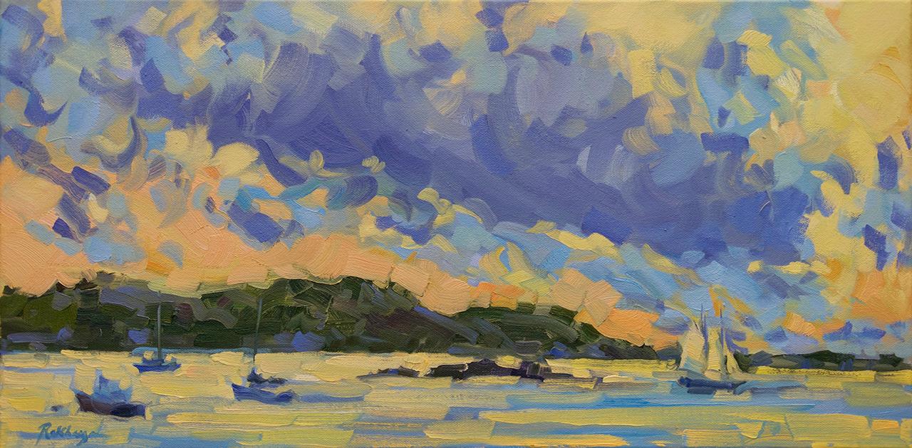 Sunset across the Harbor