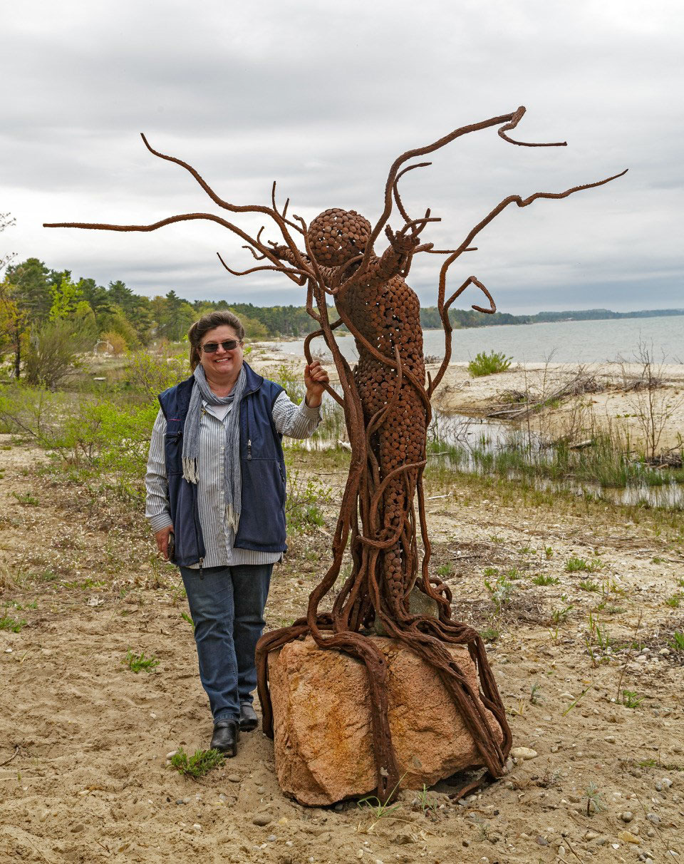 Ann Gildner is a metal artist and owner of the Gildner Art Gallery in Cheboygan and Onaway, MI.