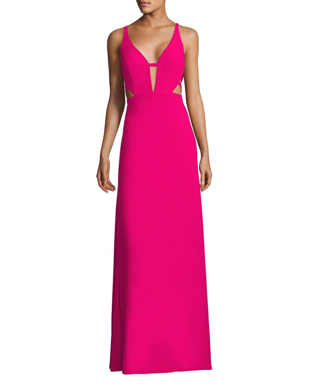 aidan-mattox-bright-pink-Crepe-Cutout-Gown.jpg