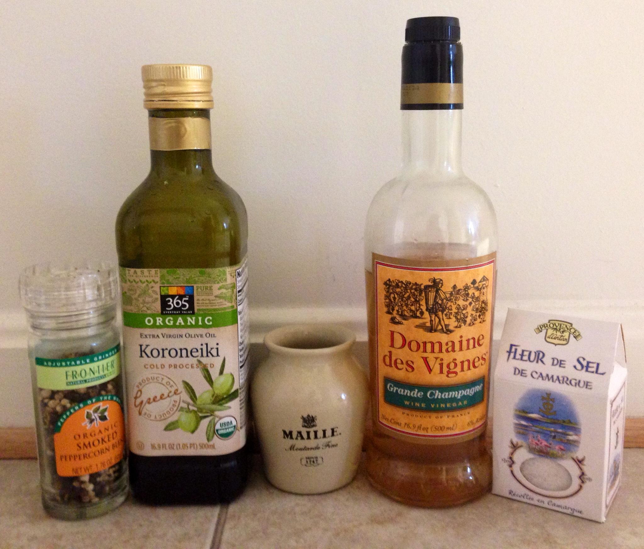 Ingredients for Cecile's Vinaigrette