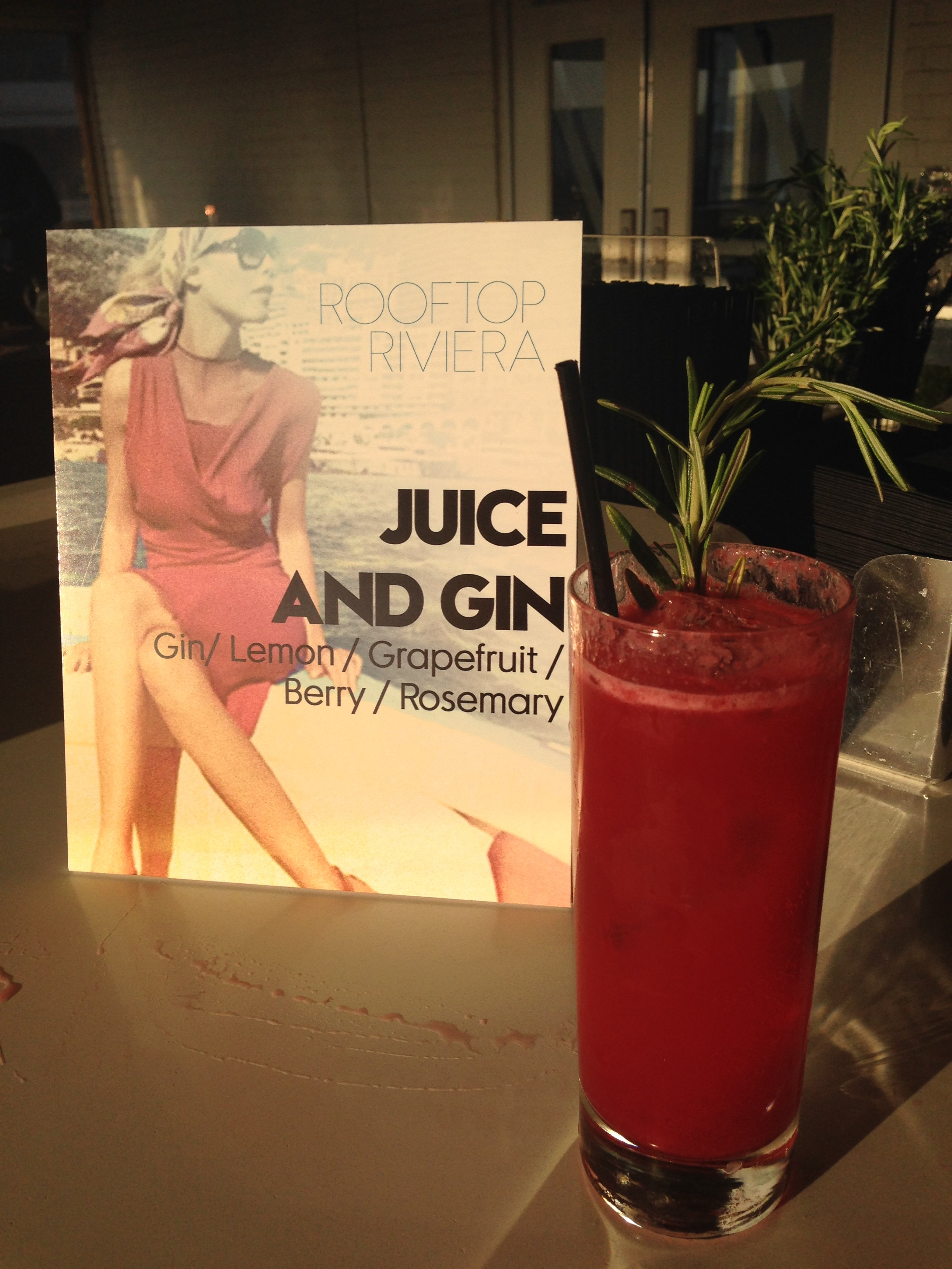 Juice and Gin Cocktail