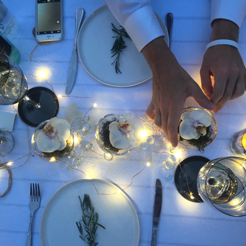 Katya and Philippe's table. (Photo credit: Katya)