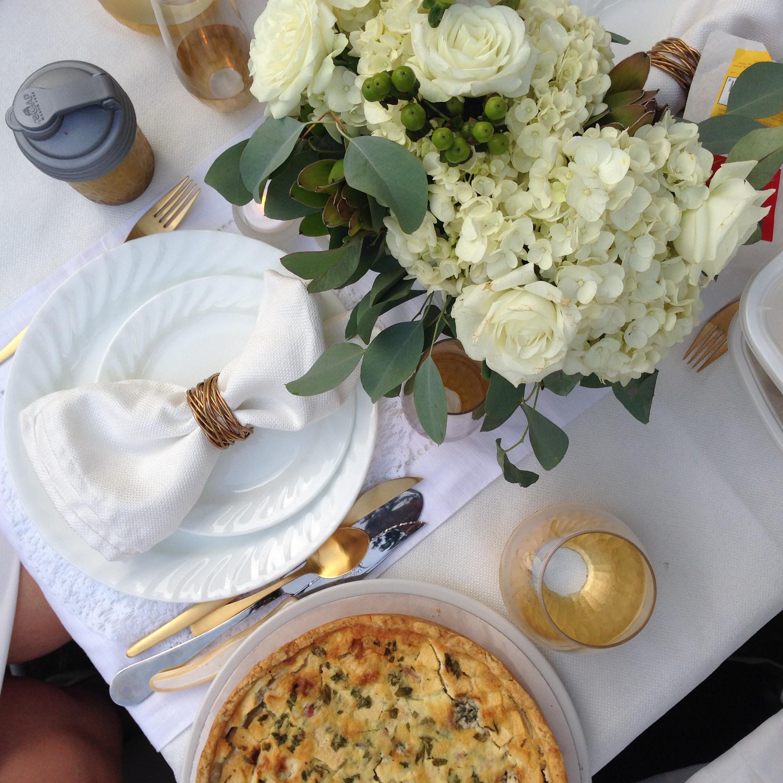 My friend Cecilia's table.