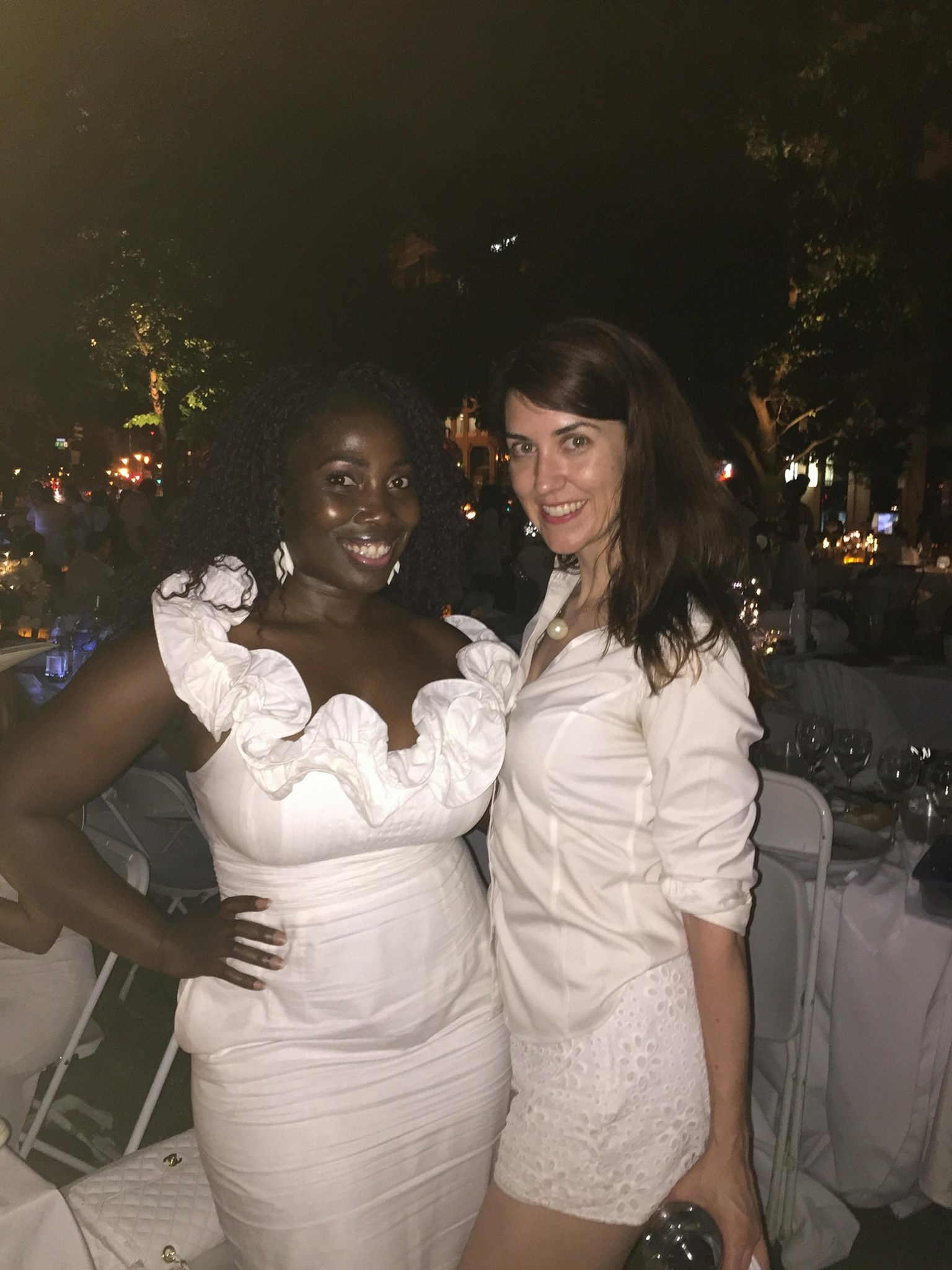 My friends Christelle and Jean (one of the fantastic table leaders). (Photo credit: Christelle)