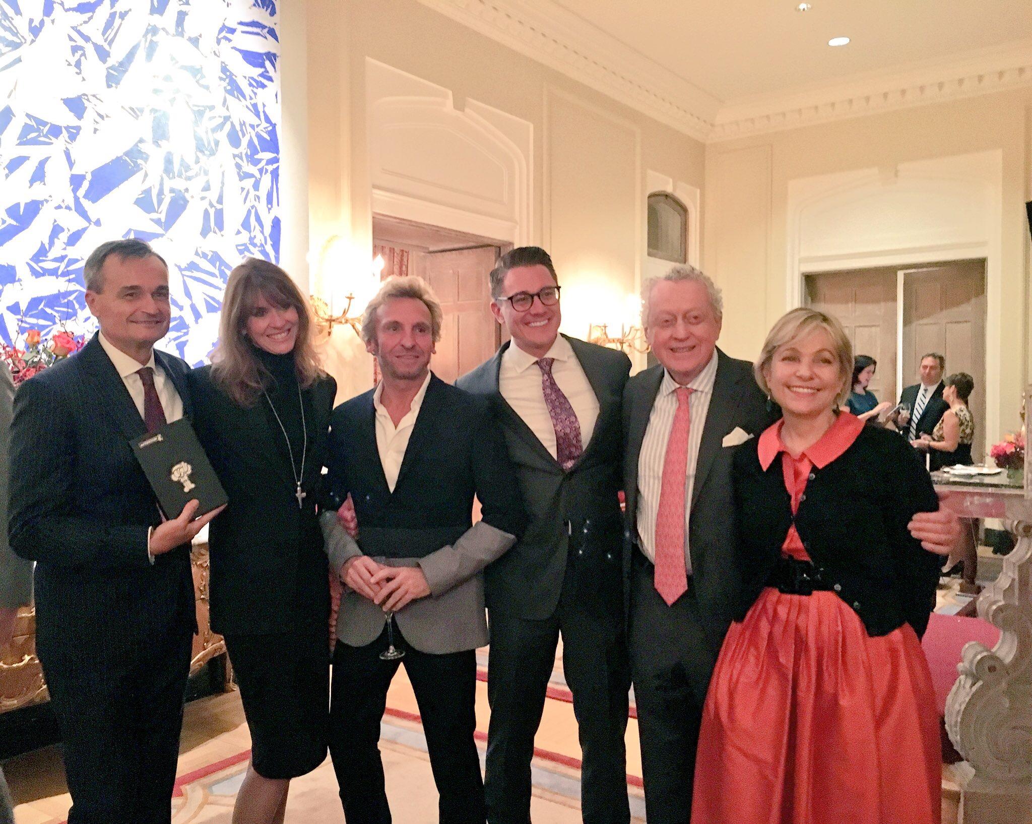 Ambassador Gerard Araud, Social Secretary Francesa Craig and friends