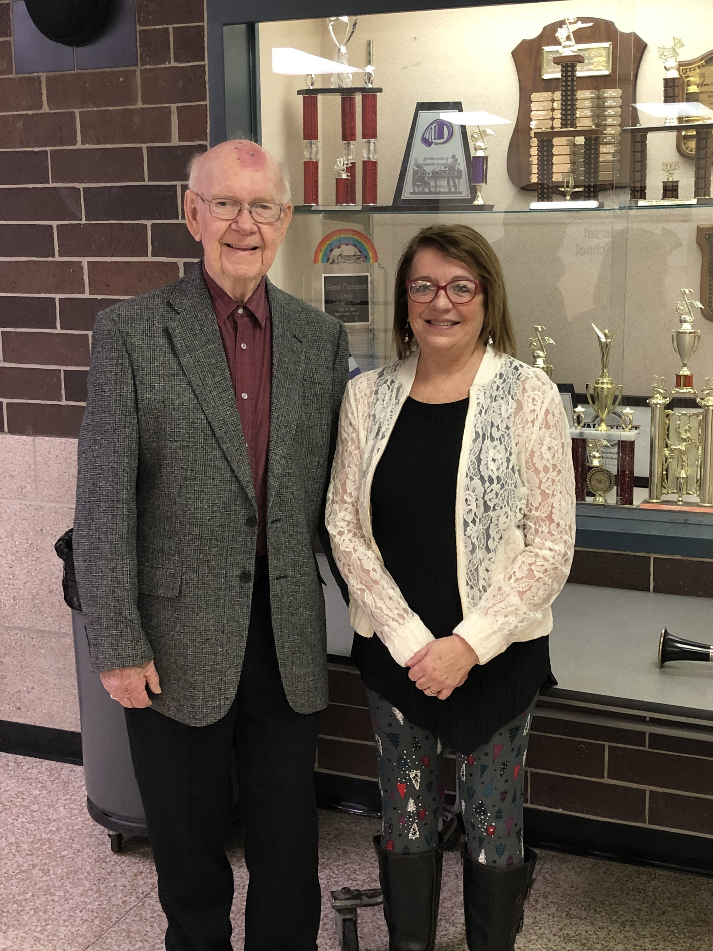 Directors Ron Fletcher and Sue Hansen at our 15th annual Christmas Concert