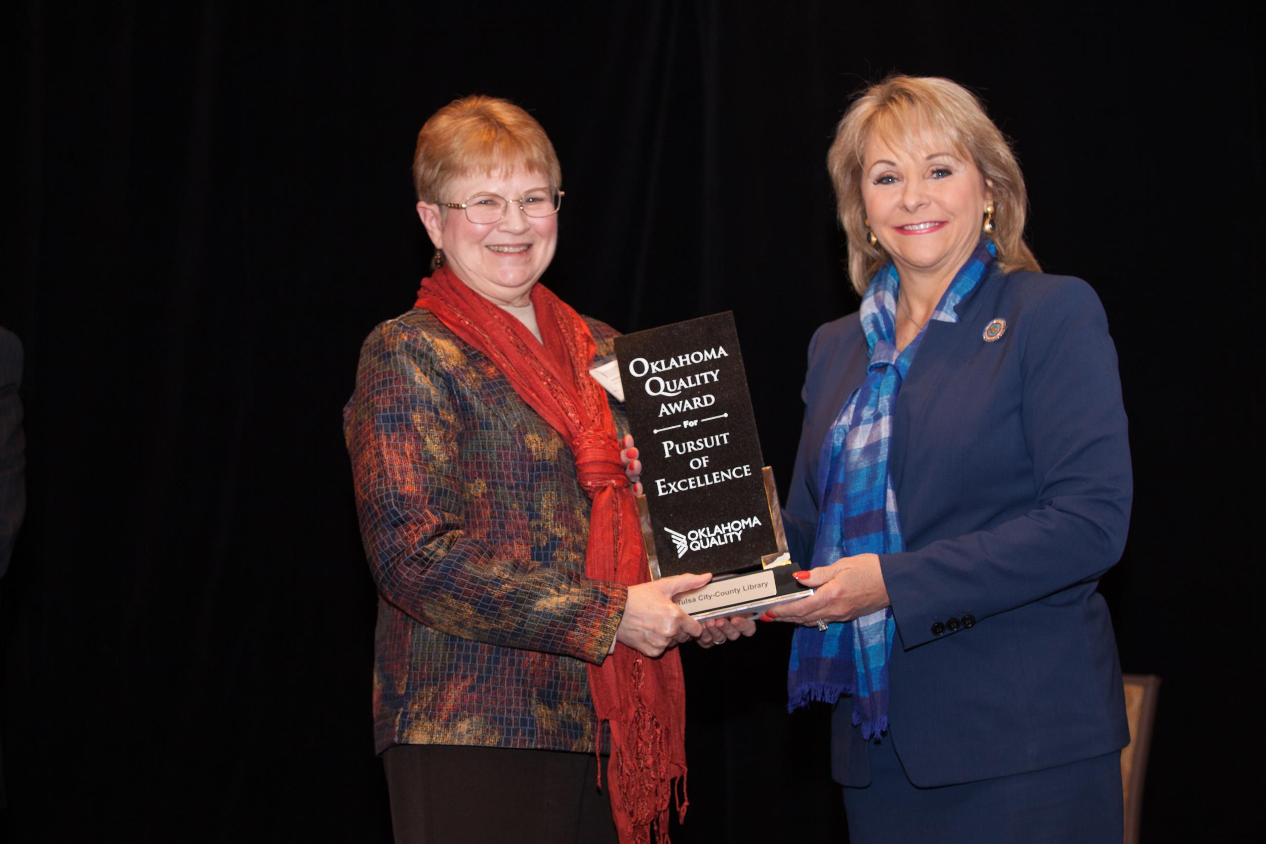 C. Frazier, OQA Award & Gov. Fallon