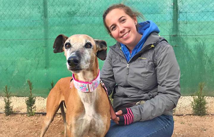 Liana pictured with volunteer namesake Liana.