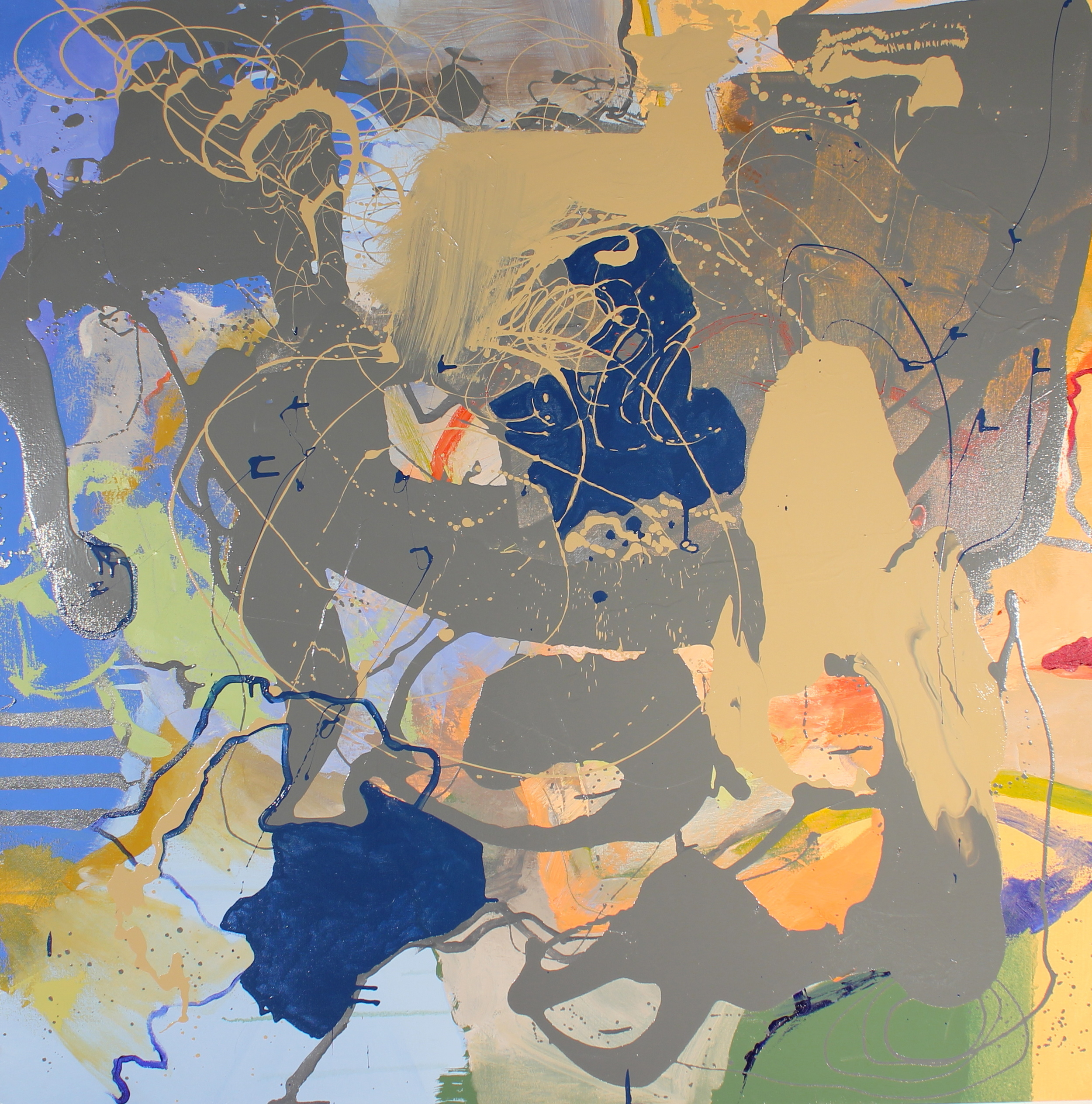 "Untitled   acrylic, oil, and enamel on canvas  48"" X 48""  $750   *Featured in the 68th annual Student Juried Art Exhibition in the Ewing Gallery at the University of Tennessee Knoxville, Knoxville, TN."