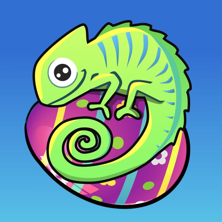le caméléon logo du jeu undercover