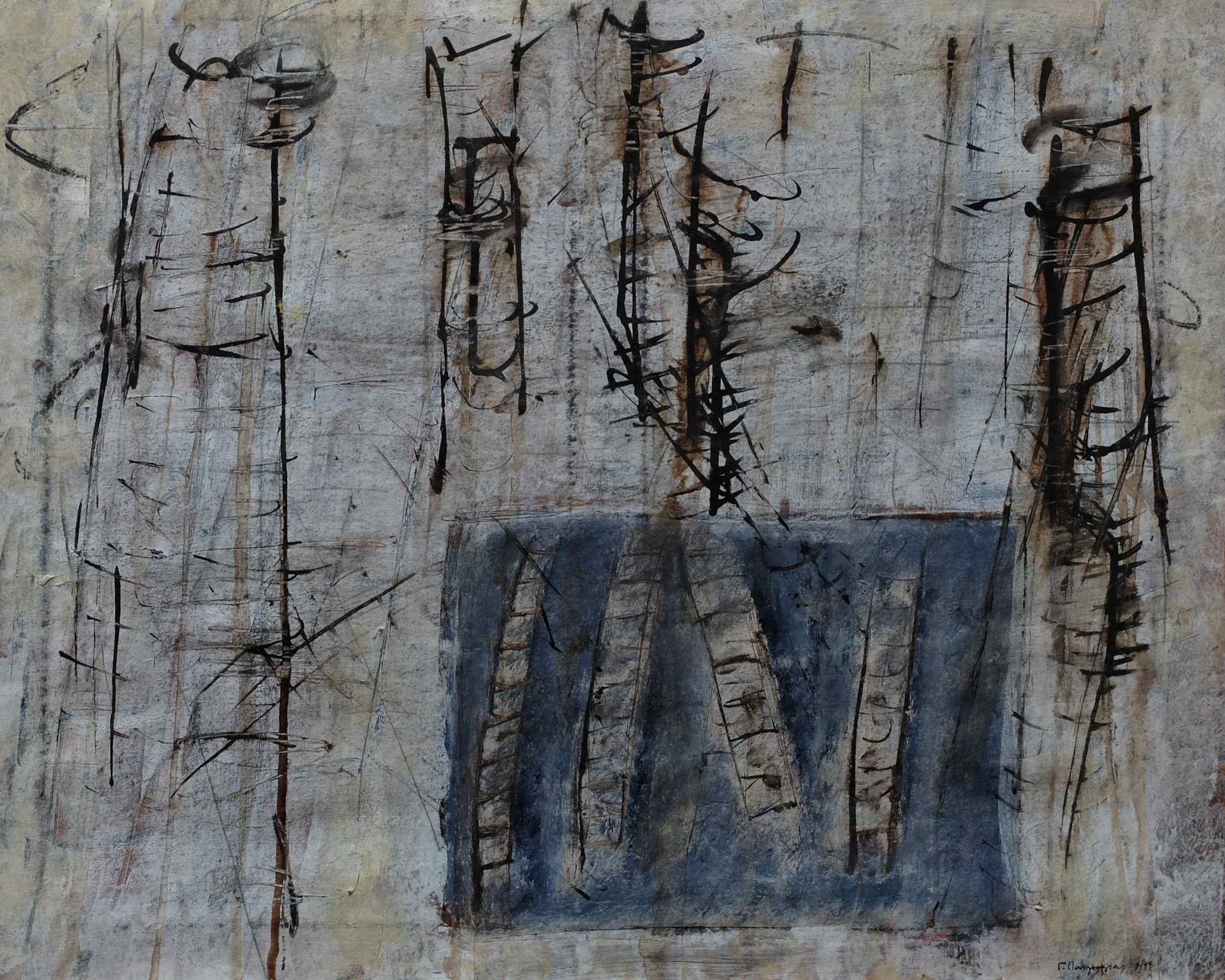 untitled; mixed media on paper; 49x59; 1999