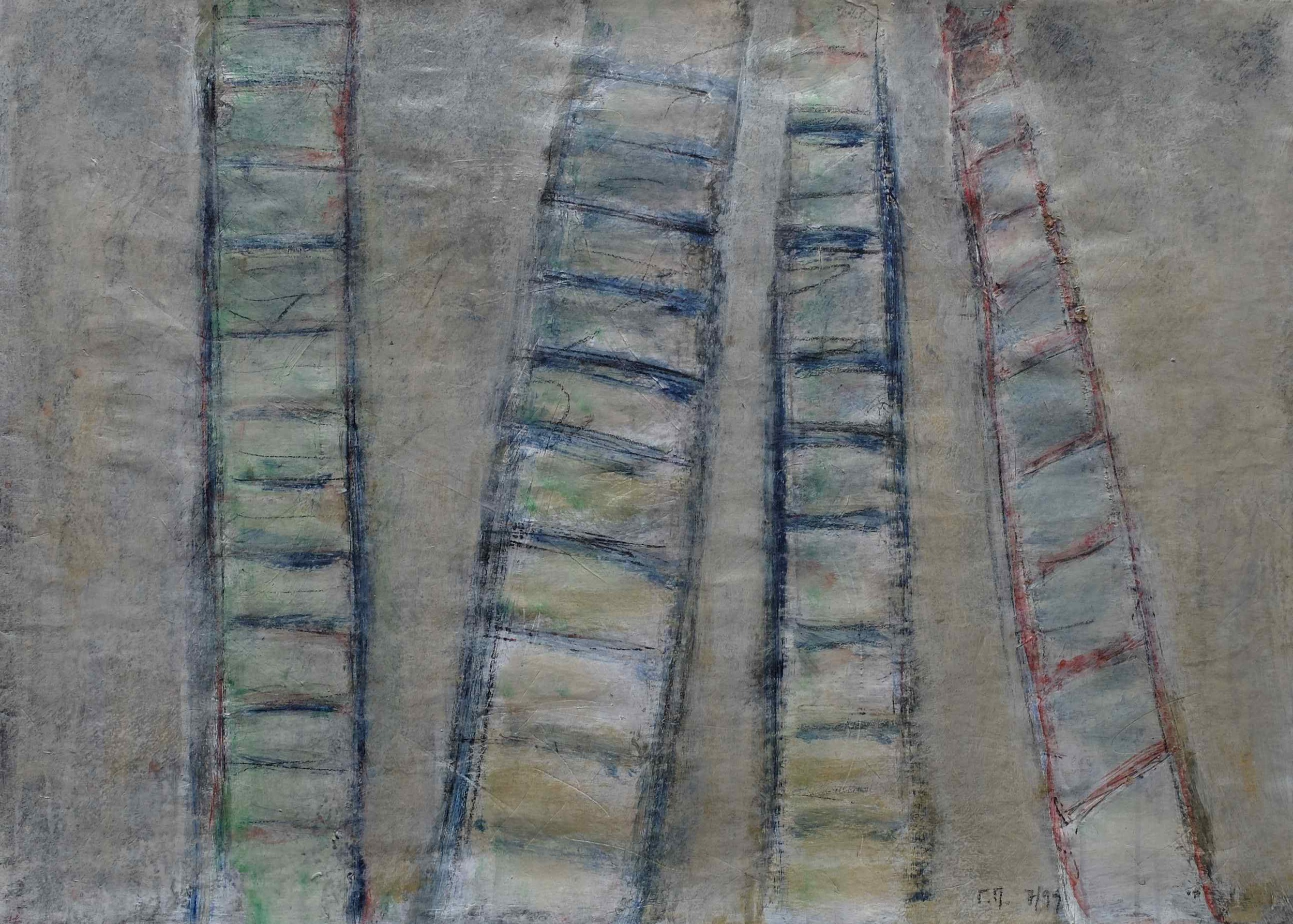 untitled; mixed media on paper; 50x70; 1999