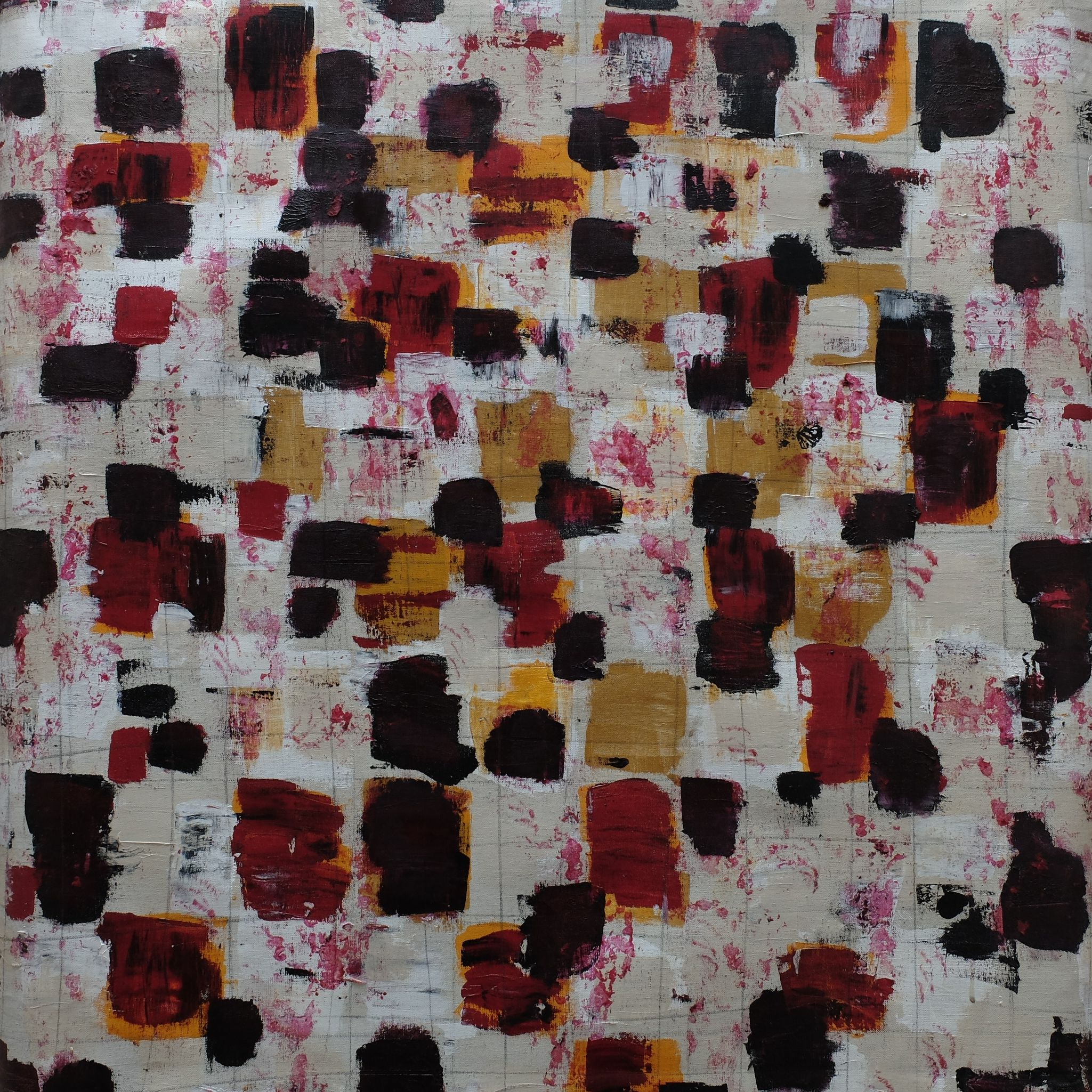 years ago V; mixed media on canvas; 90x90; 2007