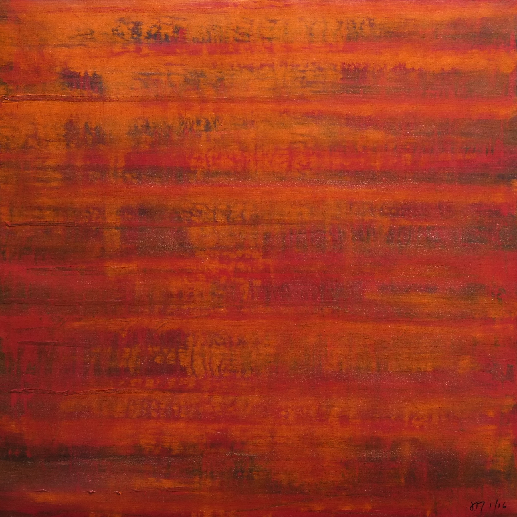 untitled; acrylic on canvas; 90x90; 2016