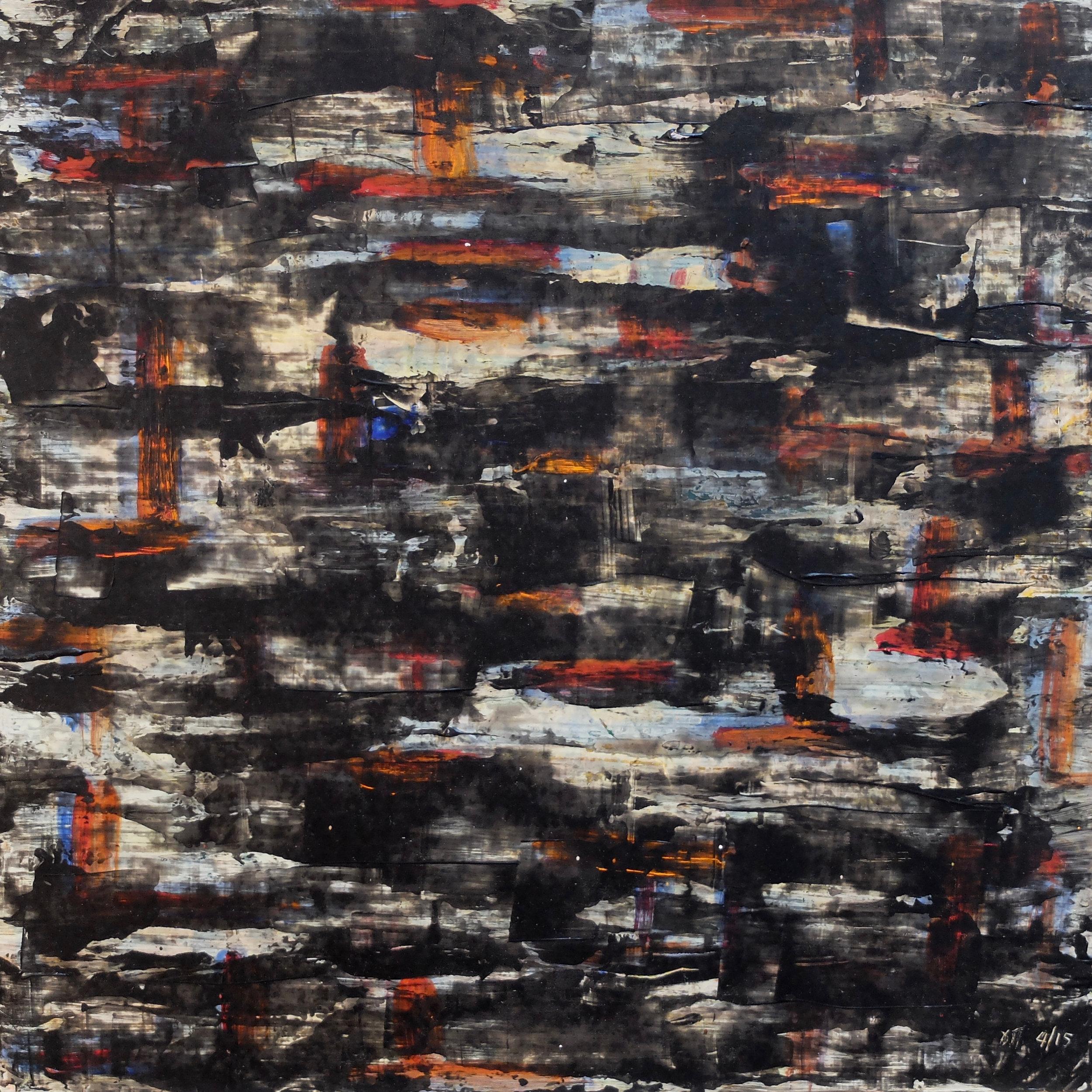 untitled; mixed media on MDF; 40x40; 2015