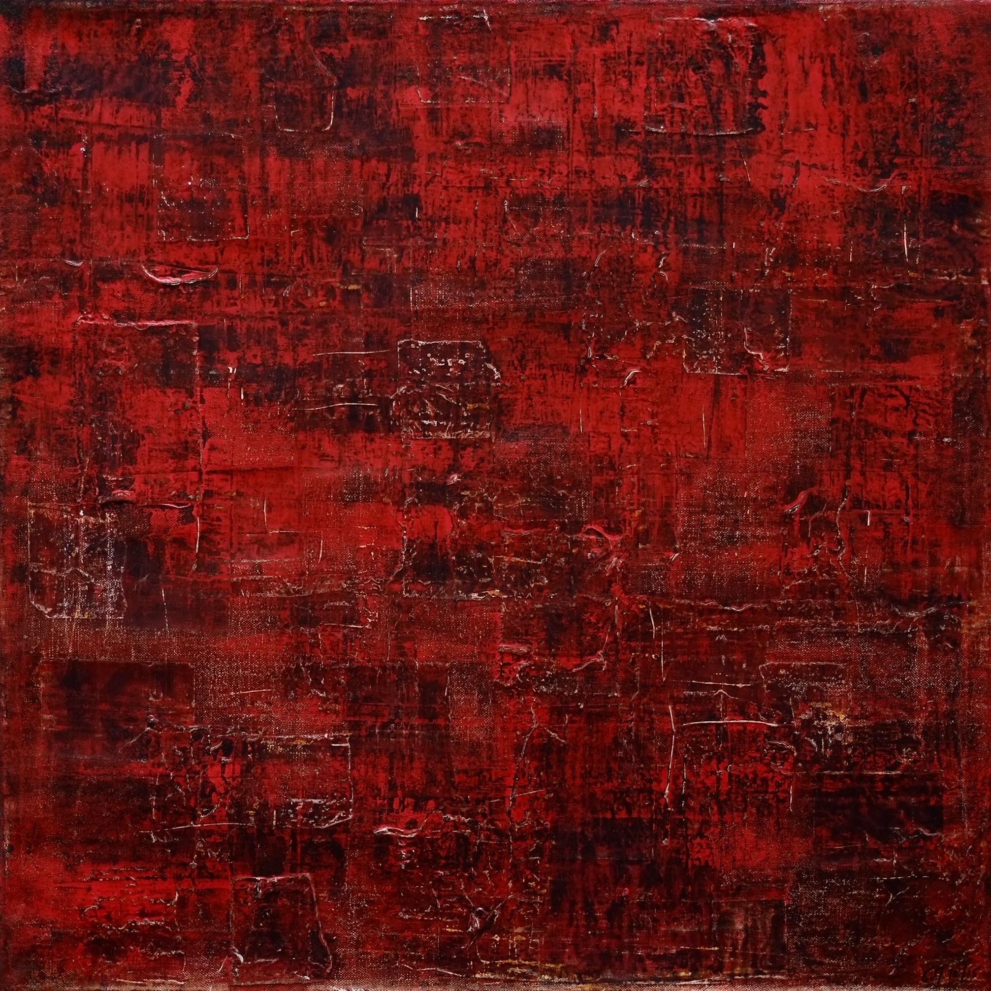 Fragile; mixed media on canvas; 50x50; 2015