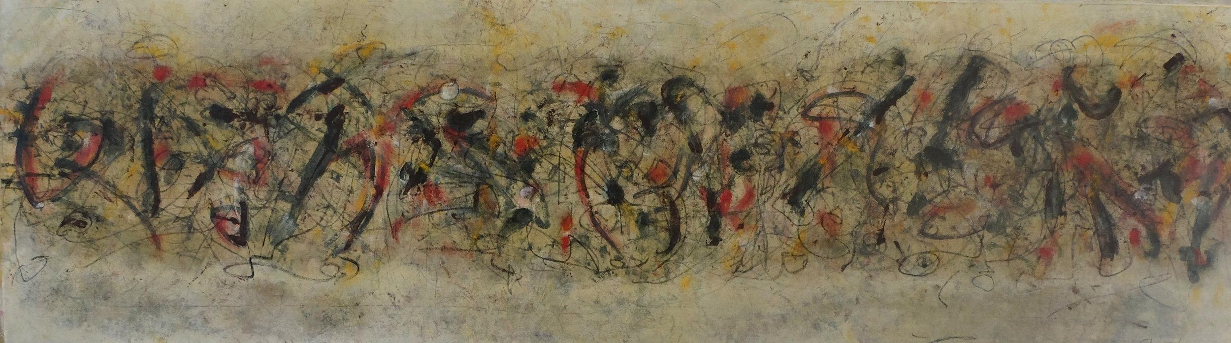 sans titre; 35x130; mixed media on canvas; 2013