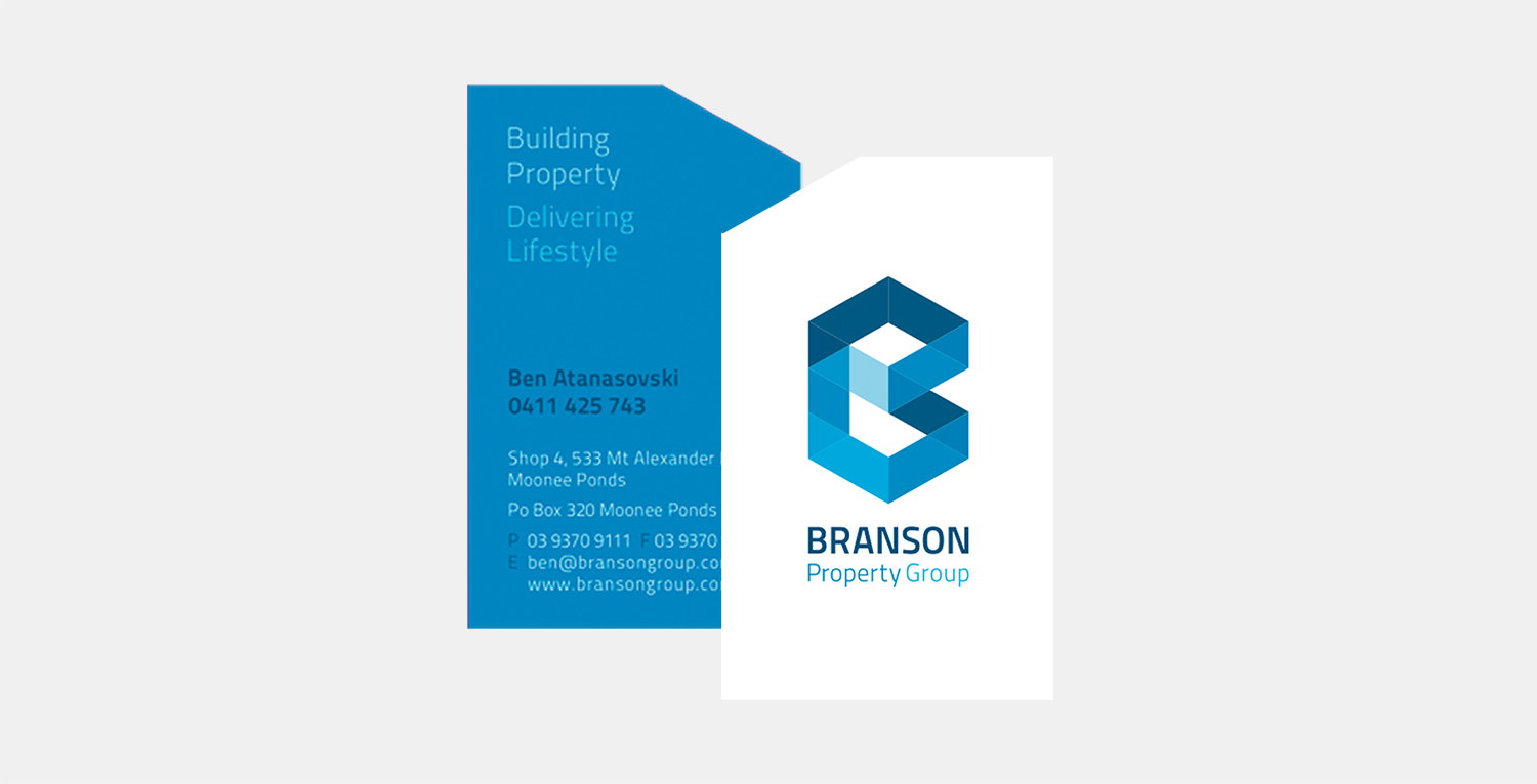 Gray Design Branson Property Group business card
