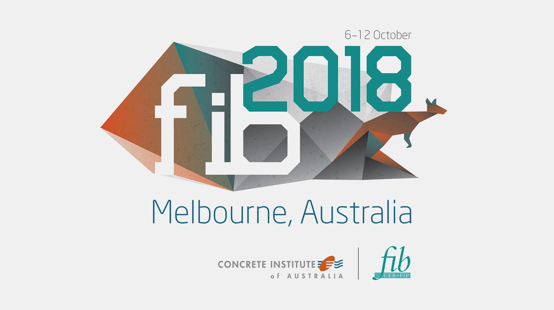 Gray Design fib 2018 conference logo design