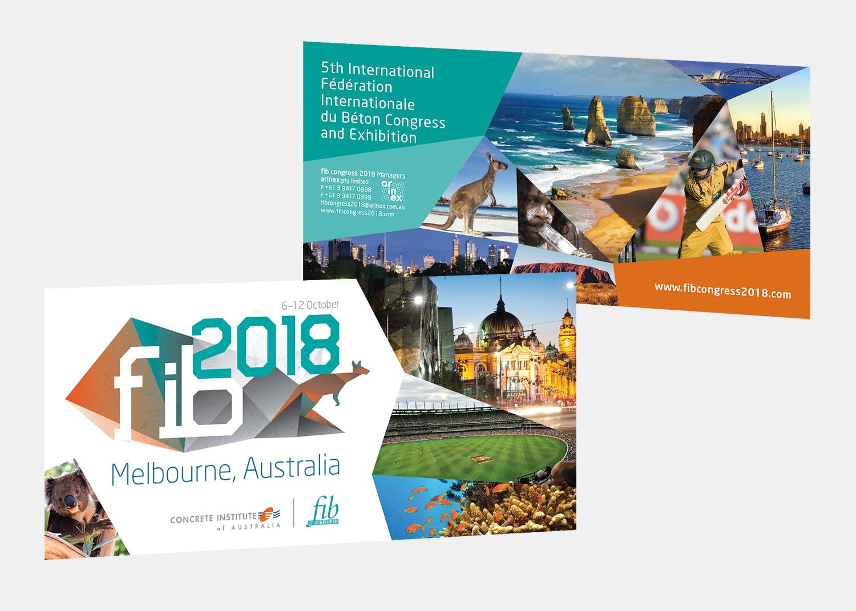 Gray Design fib 2018 conference Postcard design