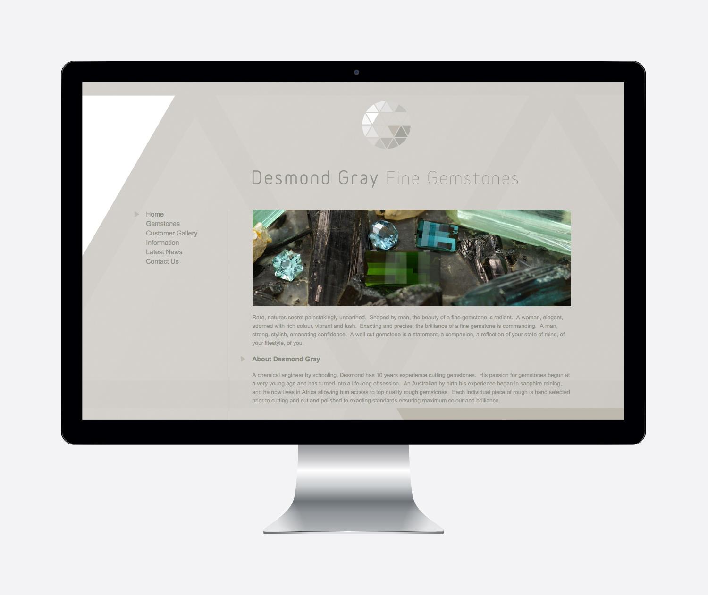 Gray Design desmond gray fine gemstones website design